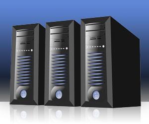三台並んだサーバー