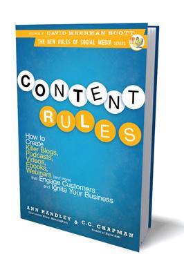 コンテントのルールと書かれた本