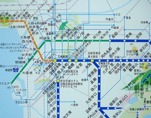 大阪、地図