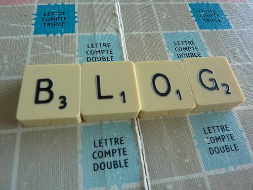 BLOGというブロック文字