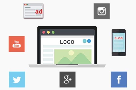 ホームページとSNSや広告などの連携概念図