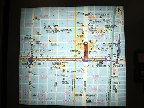 大阪中心部の地図